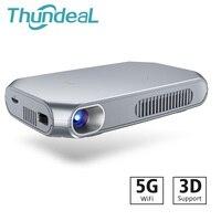 ThundeaL T15 Мини Печать цифровым проектором проектор Android Wi Fi Bluetooth Дополнительно затвора активные 3D Поддержка Full HD 1080p Пико ТВ Smart светодиодный п