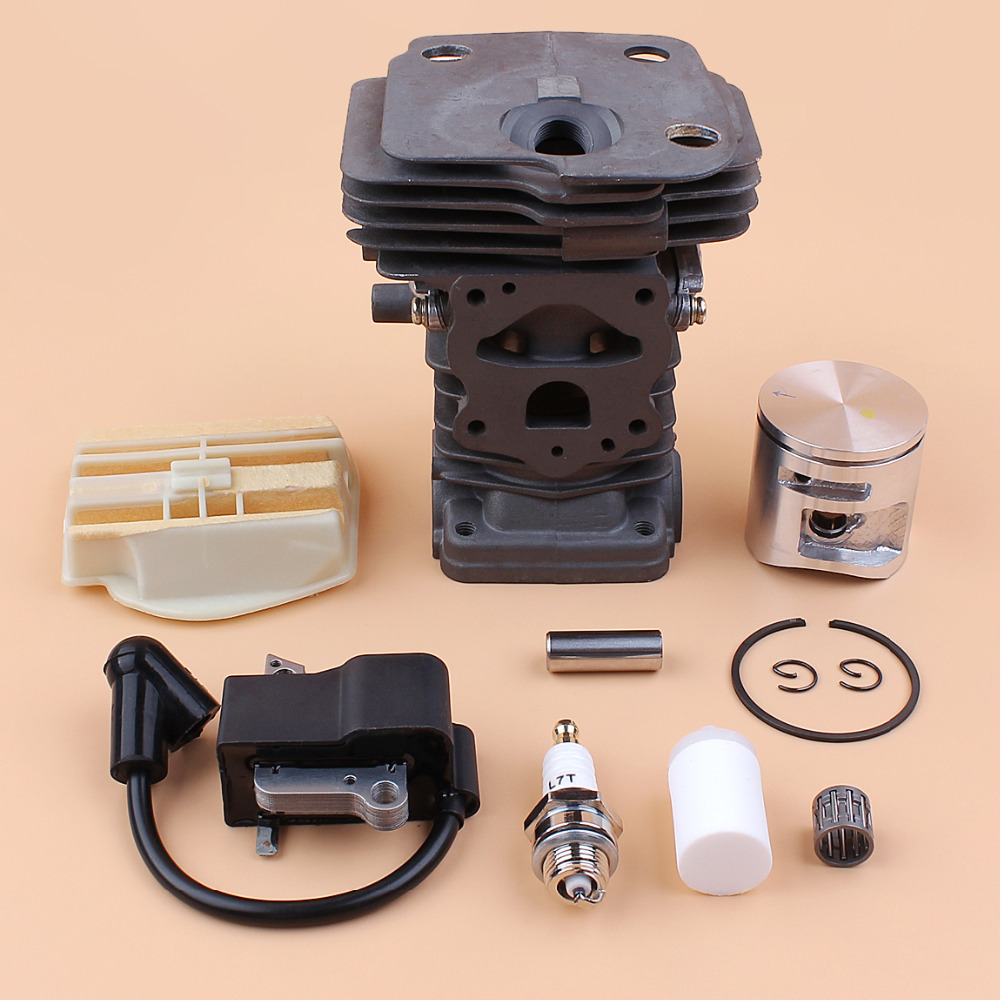 44mm Cylinder Piston Ignition Coil Air Filter Kit fit HUSQVARNA 445 450  JONSERED CS2250 CS2245 Chainsaw