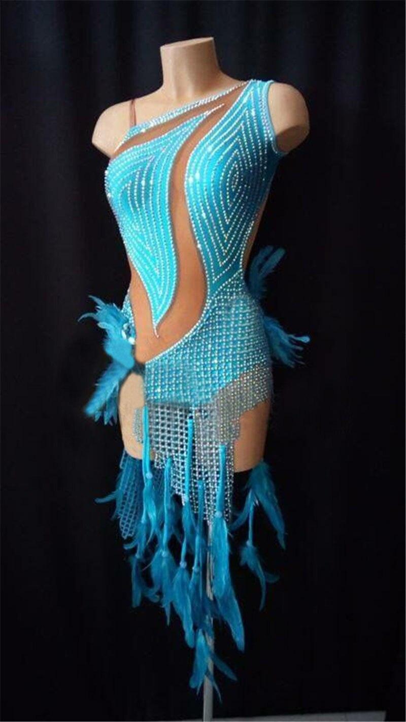 GOODANPAR 2018 Latine Robes Femmes De Pêche Net Robe De Danse Latine Vêtements de Danse de Scène Salsa Cha Cha Costume Latine Jupe Personnalisé