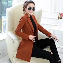 Маленький пиджак, Женский блейзер, Женский блейзер с длинным рукавом размера плюс, женские блейзеры, куртки, Длинный блейзер, офисный Женский блейзер, Femme C4307