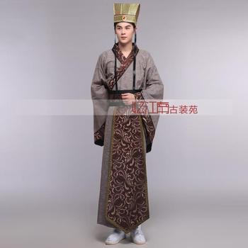 Male black hanfu ancient clothes hanfu male Chinese Han Dynasty Minister's Costumes Dress Men's Halloween Cosplay HanFu