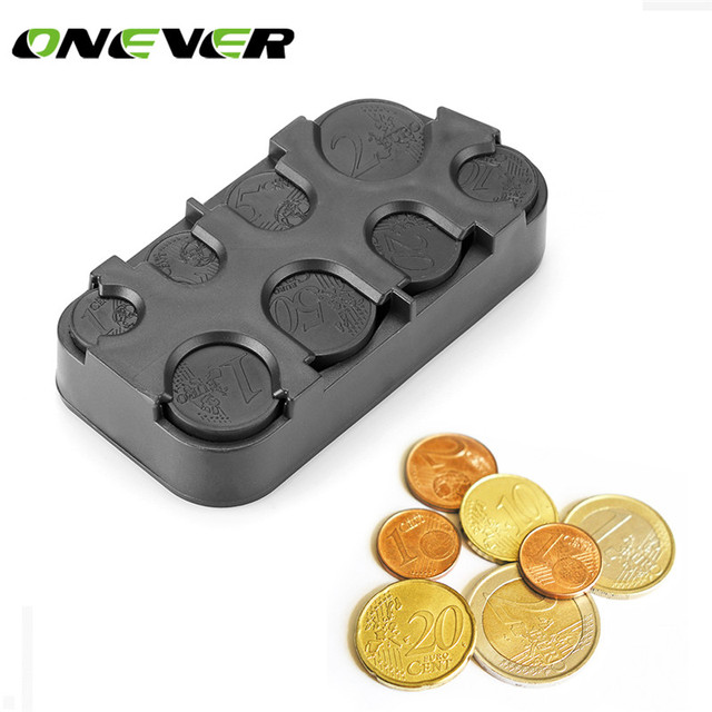 Auto Coin Holder Storage Box Car Euro Coin Case for Euro Money Container Organizer Car-Styling Interio Accessories For Car