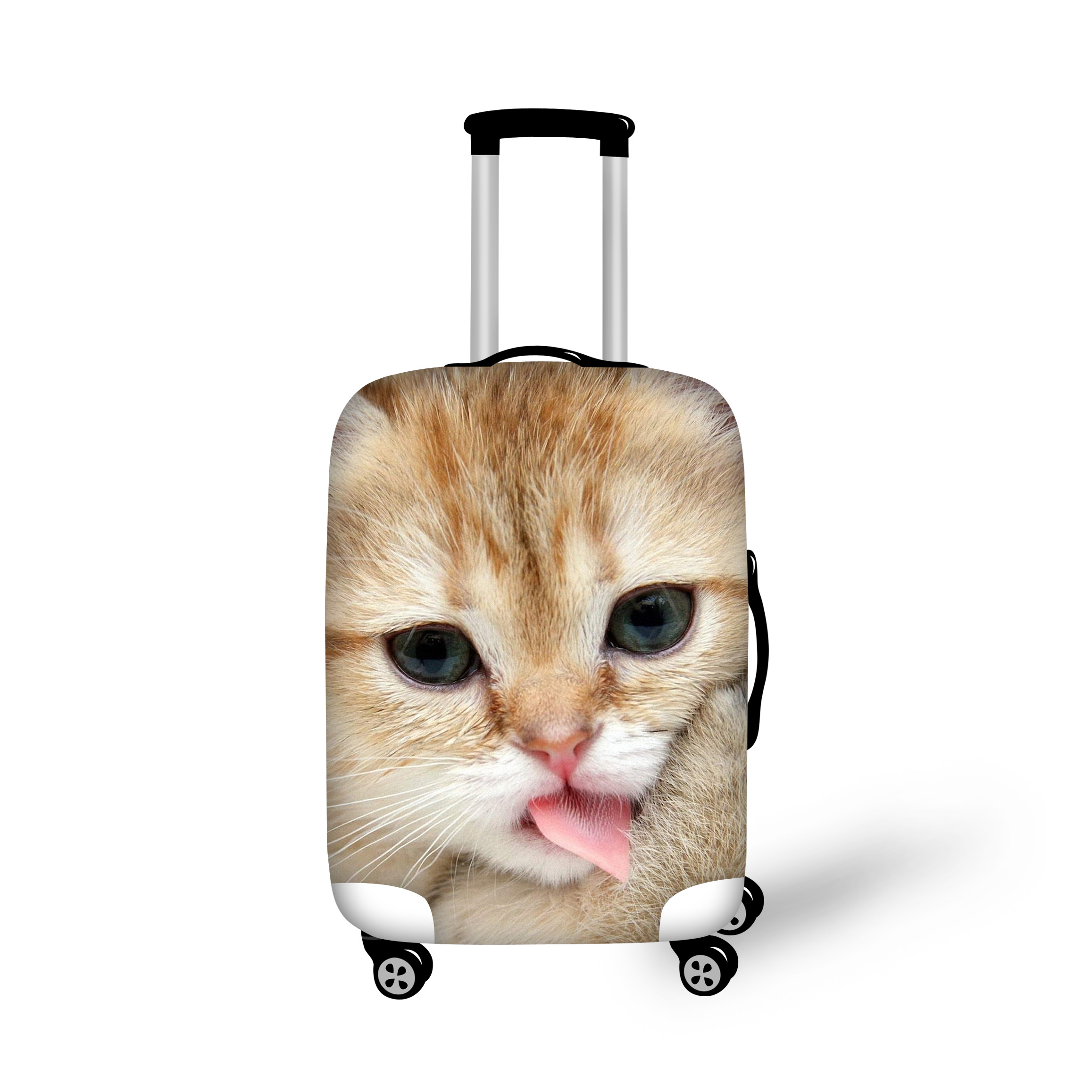 Sweet Cat Luggage Protective Cover Men's Women's Elastic Suitcase Travel Case Dust Rain Bags Accessories Dropshipping