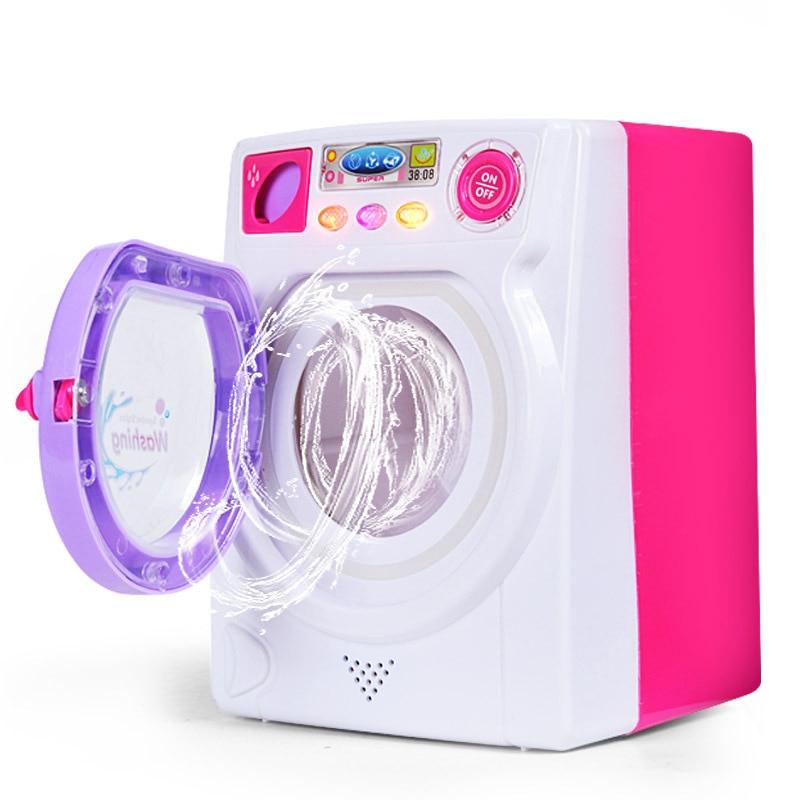 Mini Washing Machine Toy Kids Electronic Housework Toy Mini Realistic Household Electrical Appliances Children Pretend Play Toy