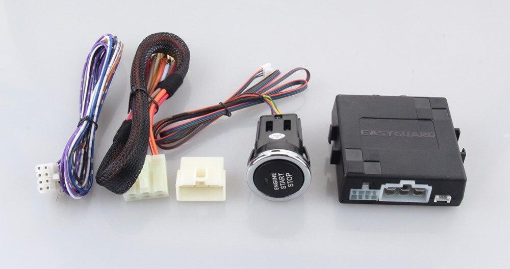imágenes para EASYGUARD Coche botón de arranque del motor, remoto del motor de arranque/parada, fácil de instalar y puede trabajar con mando a distancia original del coche DC12V