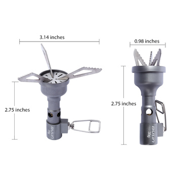 BULin BL100-10T Mini One-Piece Gas Stove Ultralight Portable Titanium Alloy Stove Cooking Outdoor Camping Hiking Picnic Burners 2