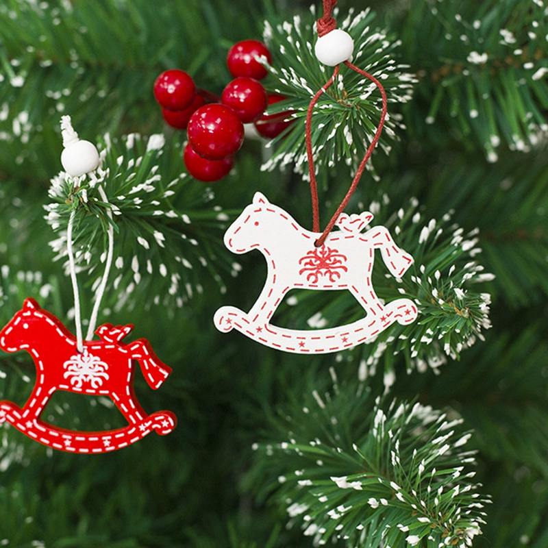 Wicca Christmas.Us 22 28 2boxes Red Christmas Tree Ornament Paper Hanging Pendants Angel Snow Bell Elk Star Christmas Tree Decorations For Home 8 12pc In Pendant