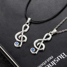 High Quality Jewelry musical note Necklace For Lover Gift Musical Rhythm Fashion Women Long Gifts