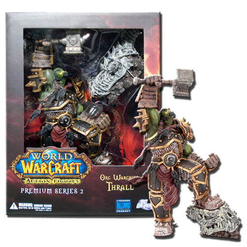 DC Direct World of Premium Series 2 Orc Thrall Deluxe Figure wow world of war rehgar orc dwarf warrior thargas anvilmar figure lot x2