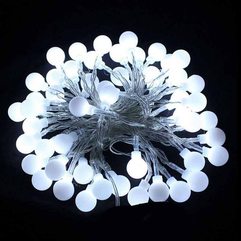 Guirnalda de bolas de hadas a prueba de agua de 1,2 M y 10 ledes, guirnalda de luces para árbol de Navidad, boda, hogar, decoración interior, alimentado por batería