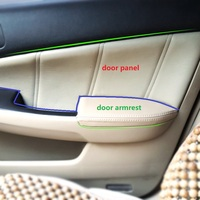 4pcs Car Styling Microfiber Leather Interior Door Armrest Panel Cover Trim For Honda Accord 7th Gen 2003 2004 2005 2006 2007