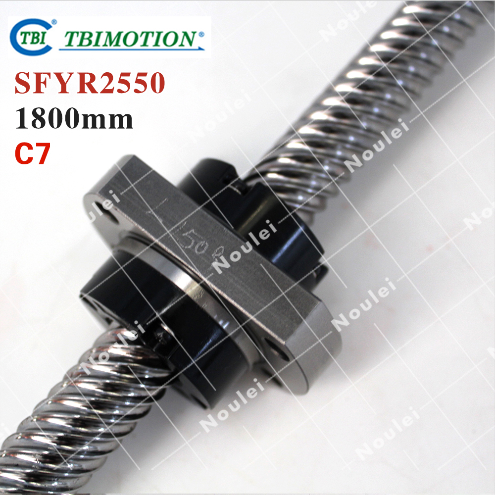 TBI 2550 ball screw 25mm dia 50mm lead 1800mm with ballnut SFY2550 for DIY CNC parts винт tbi sfkr 0802t3d