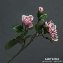 65cm Artificial Silk Fructus Gardeniae Flower Vintage 3 Heads Fake Gardenia  Flowers