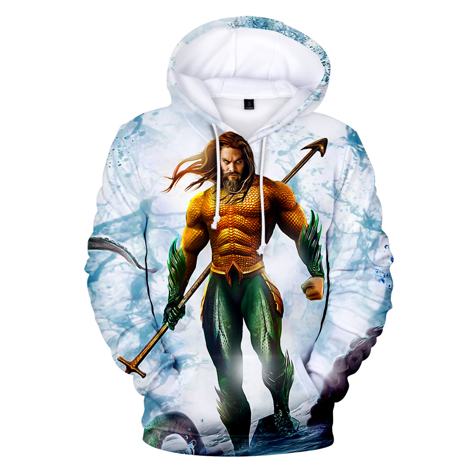 Fashion DC Movie Aquaman Cosplay Hoodie 3D Print Superhero Adult Kids Pullover Sweatshirt Coat For Autumn Winter Tops