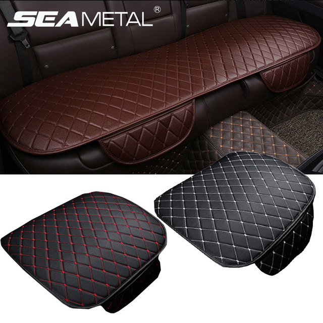 Car-styling Car Seat Covers Sets Universal Automobile Seat Cover PU Leather Auto Cushion Pads Mats on Cars Interior Accessories