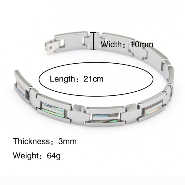 tungsten carbide Fashionable High Quality Bracelet Tungsten Bracelet For Men Length 21cm Width 1cm Thickness 3mm Weight 64g