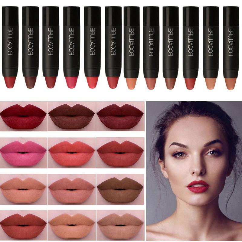 FOCALLURE Matte Lipstik Beli 3pcs 20% off Lip Pencil Panjang - Makeup