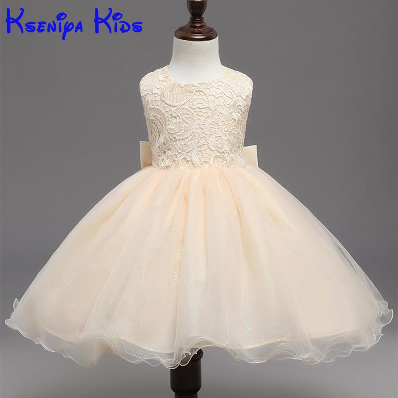 New Summer Girl Flower Petals Dress Children Bridesmaid Toddler Elegant Dress Pageant Tulle Formal Party Dress Back With Love игрушки животных на электро радиоуправлении pleo rb 2