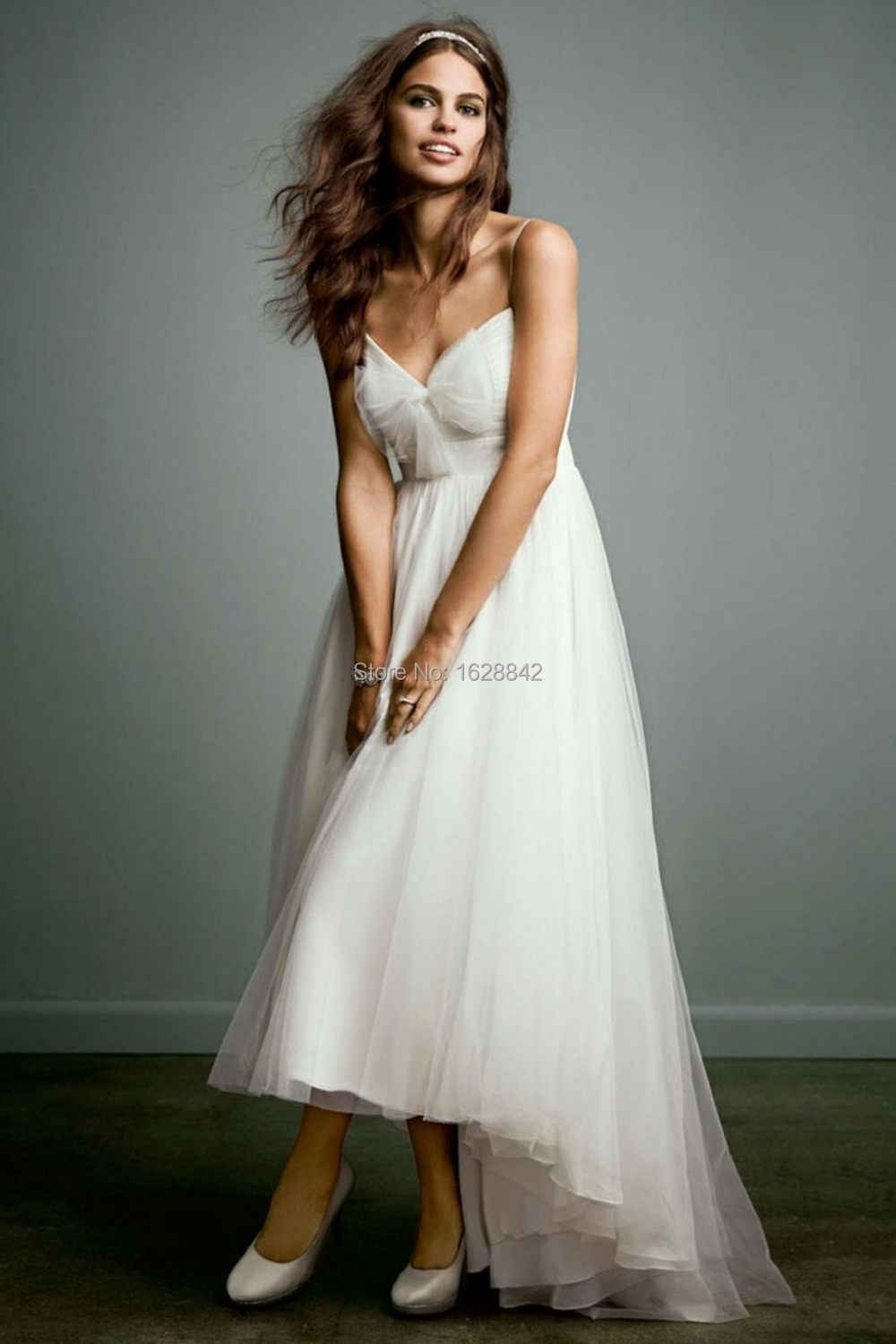 Buy free shipping short wedding dress for Wedding dress high low