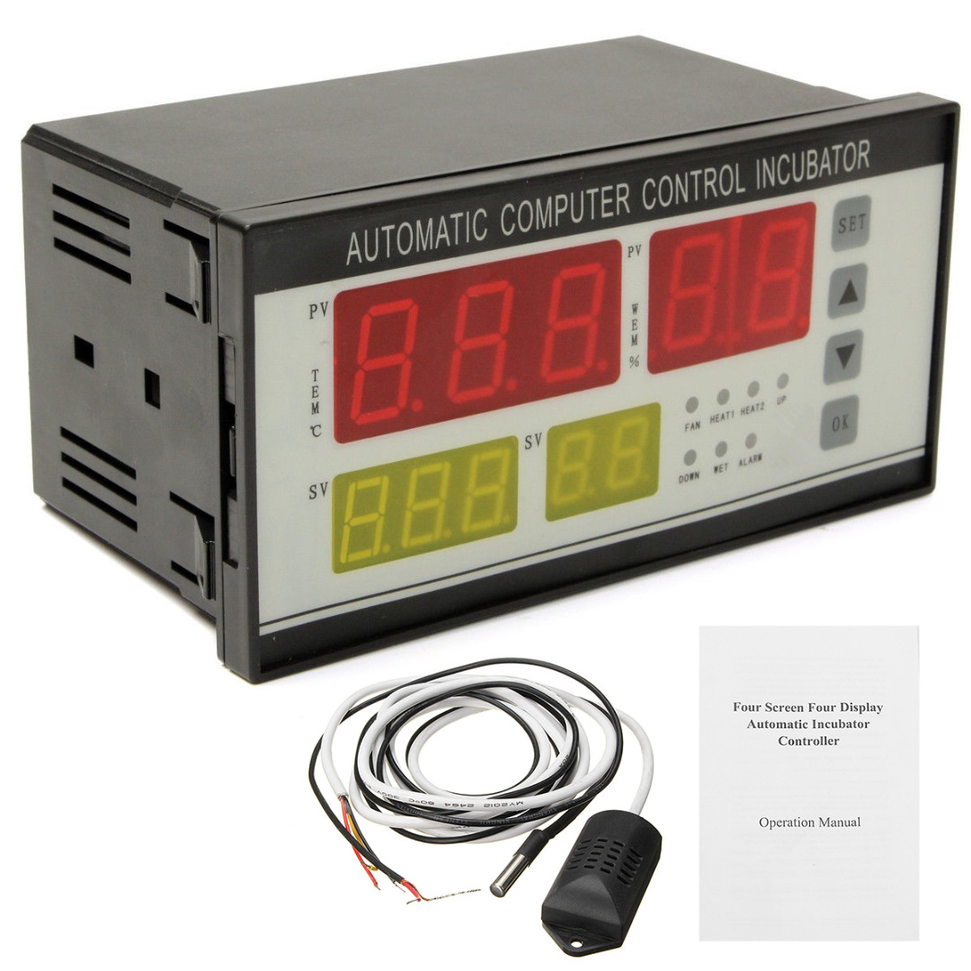 Digital Automatic Incubator Controller Air Temperature Humidity Controller for Egg Chickens Temperature Controller digital indoor air quality carbon dioxide meter temperature rh humidity twa stel display 99 points made in taiwan co2 monitor