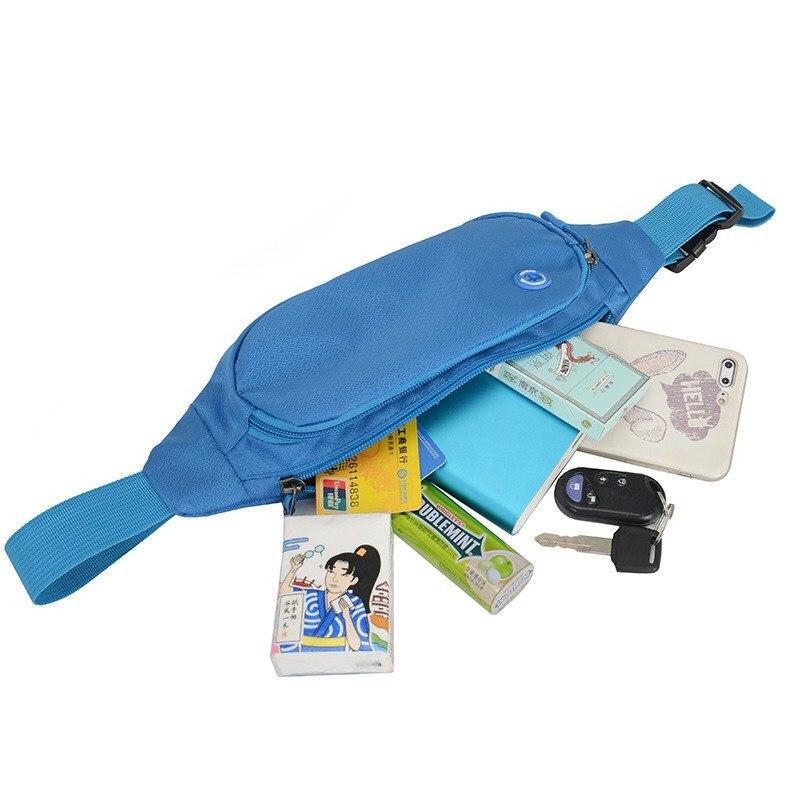 Pouch Wallet Sport Bag Fanny Pack Travel Waist Money Belt Zip Waterproof Hiking Running Outdoor Sport Small Bag