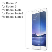 2.5D 0.26mm 9H Premium Tempered Glass For Xiaomi Redmi 2 3 4 Redmi Note 2 Note 3 Note 4 Phone Screen Protector Film