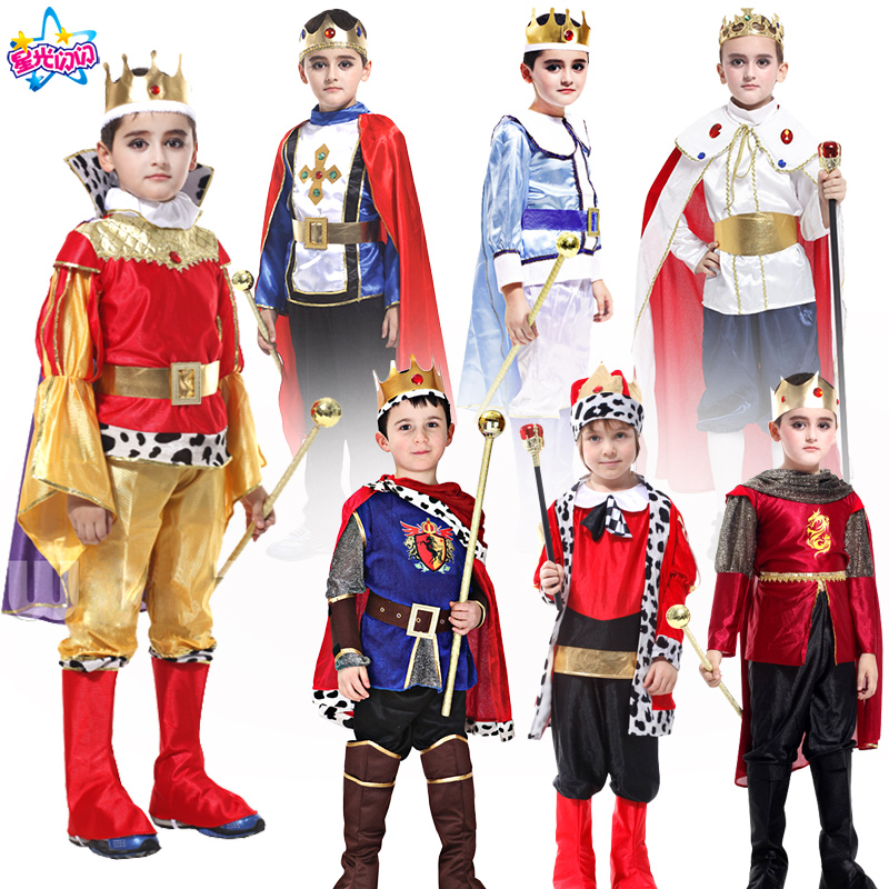 Holiday  Cosplay kids man Prince Costume for Children The King Costumes Children's Day Boys Fantasia European royalty clothing