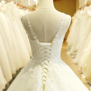 Image 5 - SL 1T בציר תפור לפי מידה אונליין ארוך תחרה אפליקציות סין חתונה שמלה בתוספת גודל בוהמי Abito דה sposa טול כלה שמלה