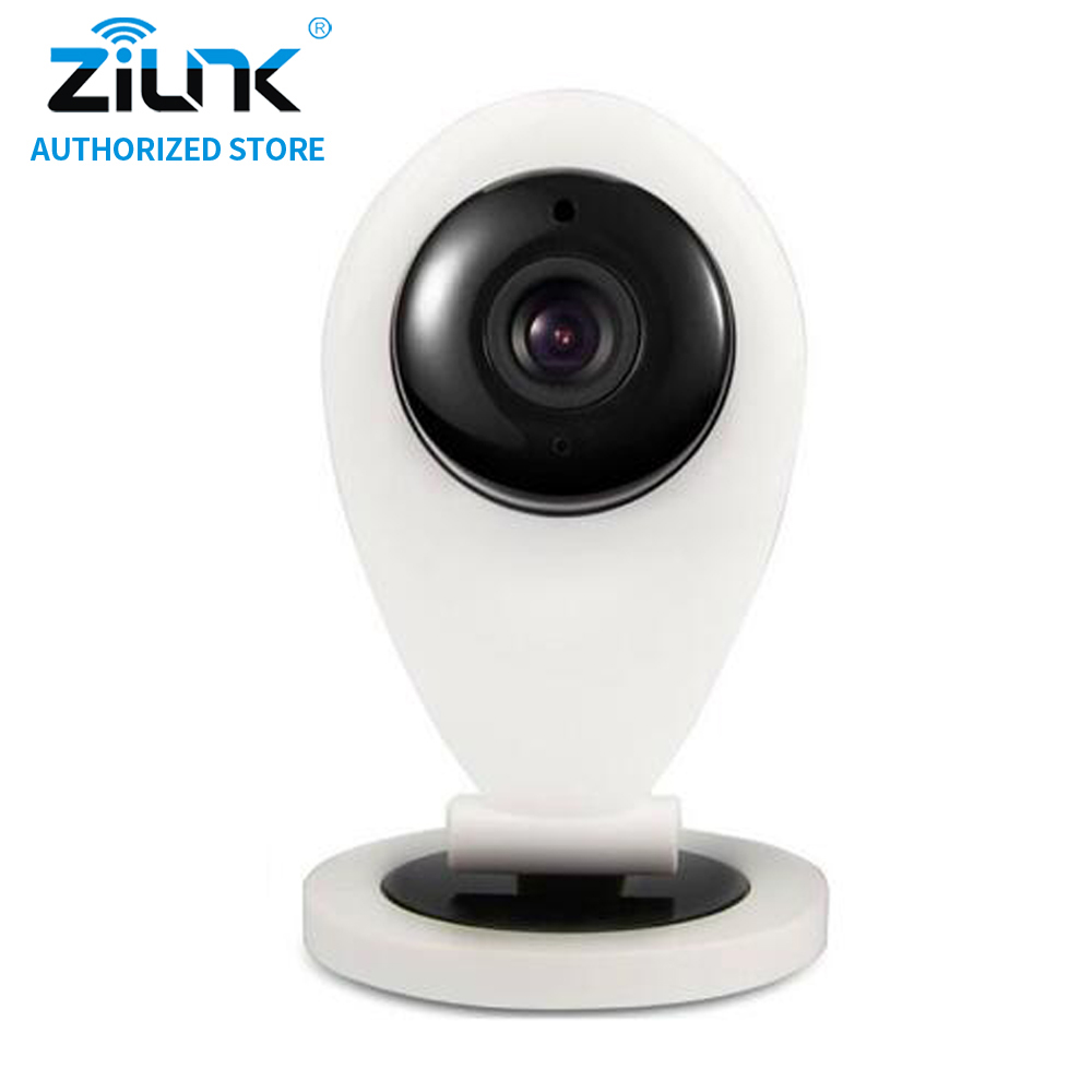 ZILNK 720P Two way audio Night Vision Wireless  IP Camera WiFi Home Security CCTV Camera Mini HD P2P Indoor Baby Monitor White