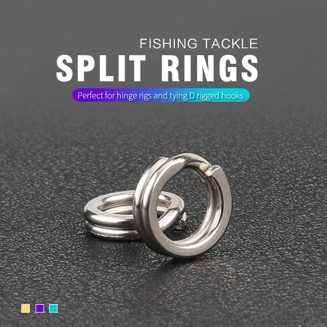 Stainless Steel Fishing Split Rings Lure Solid Ring Loop For Blank Crank Bait Tool Kit Metal Key Holder Split Rings 50/200pcs