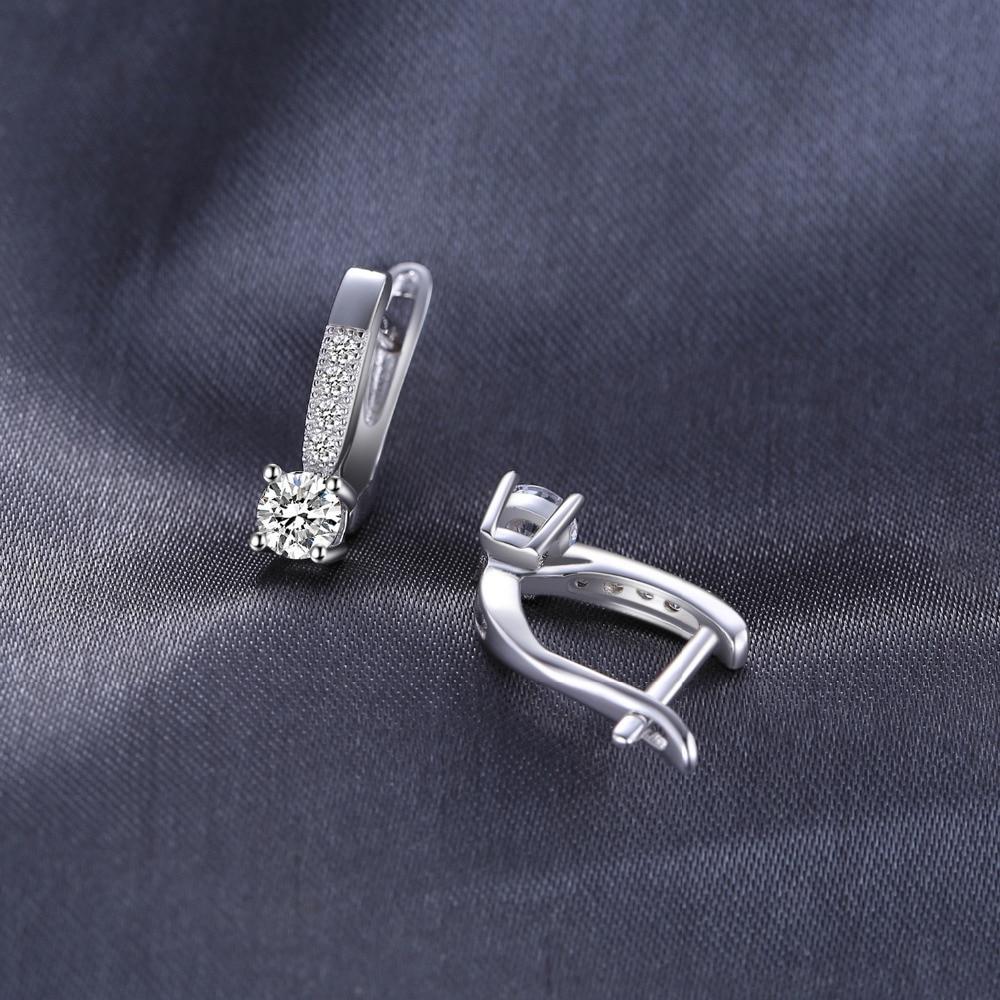 JewelryPalace Zirkonia Creolen 925 Sterling Silber Ohrringe Für - Modeschmuck - Foto 3