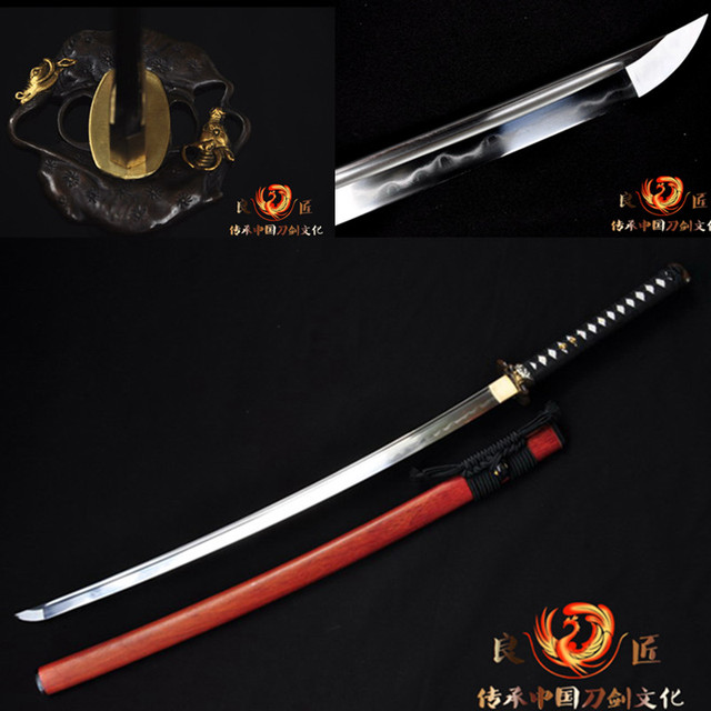 battle ready folded blade clay tempered  japanese samurai  sword katana  sharpened