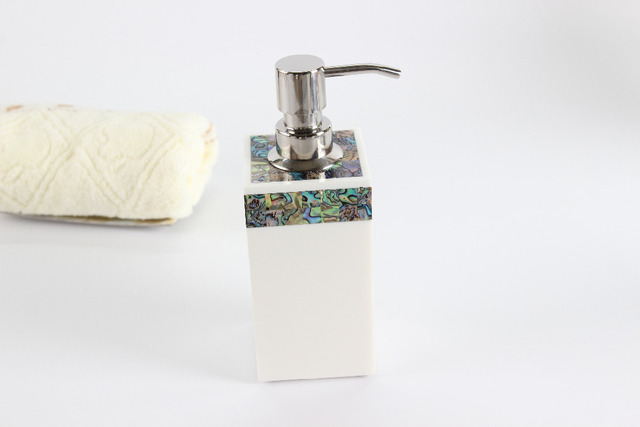 homehotel bathroom set new zealand paua shell decor soap dispenser