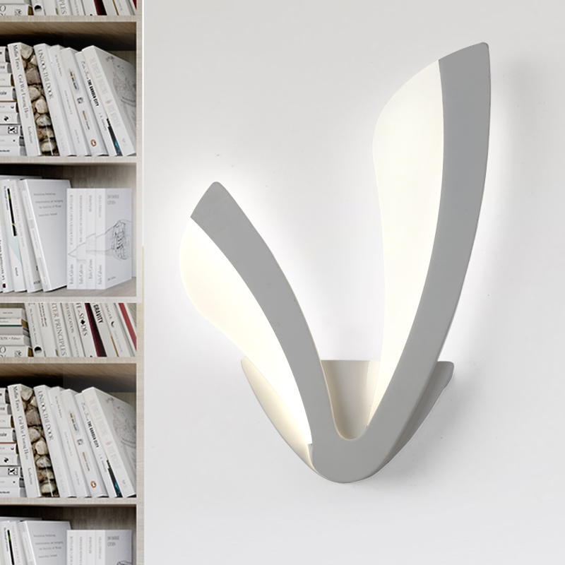 Modern LED Wall Lamp For Bathroom Bedroom  Wall Sconce White Indoor Lighting Lamp AC111-240V LED Wall Light Indoor Lighting contemporary led wall lamp with butterfly lampshade for bedroom foyer 15w wall sconce white warm white indoor lighting lamp