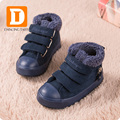 Brand Children Shoes Boys Boots Kids Abkle Snow Boots Autumn Winter 2017 Flock Plush Flat Rubber Warm Toddler Girls Sneakers