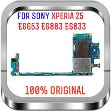 ทำงานเต็มรูปแบบปลดล็อกเมนบอร์ดเมนบอร์ดเมนบอร์ด Flex วงจรสำหรับ Sony Xperia Z5 E6883 E6653 E6833 E6853 เมนบอร์ด