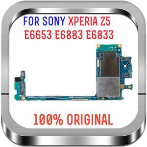 Image 1 - מלא עבודה מקורי סמארטפון Mainboard האם להגמיש מעגלים כבל עבור Sony Xperia Z5 E6883 E6653 E6833 E6853 האם