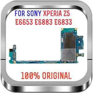 Image 1 - 全作品オリジナルロック解除メインボードマザーボードフレックス回路ケーブルソニーの Xperia Z5 E6883 E6653 E6833 E6853 マザーボード