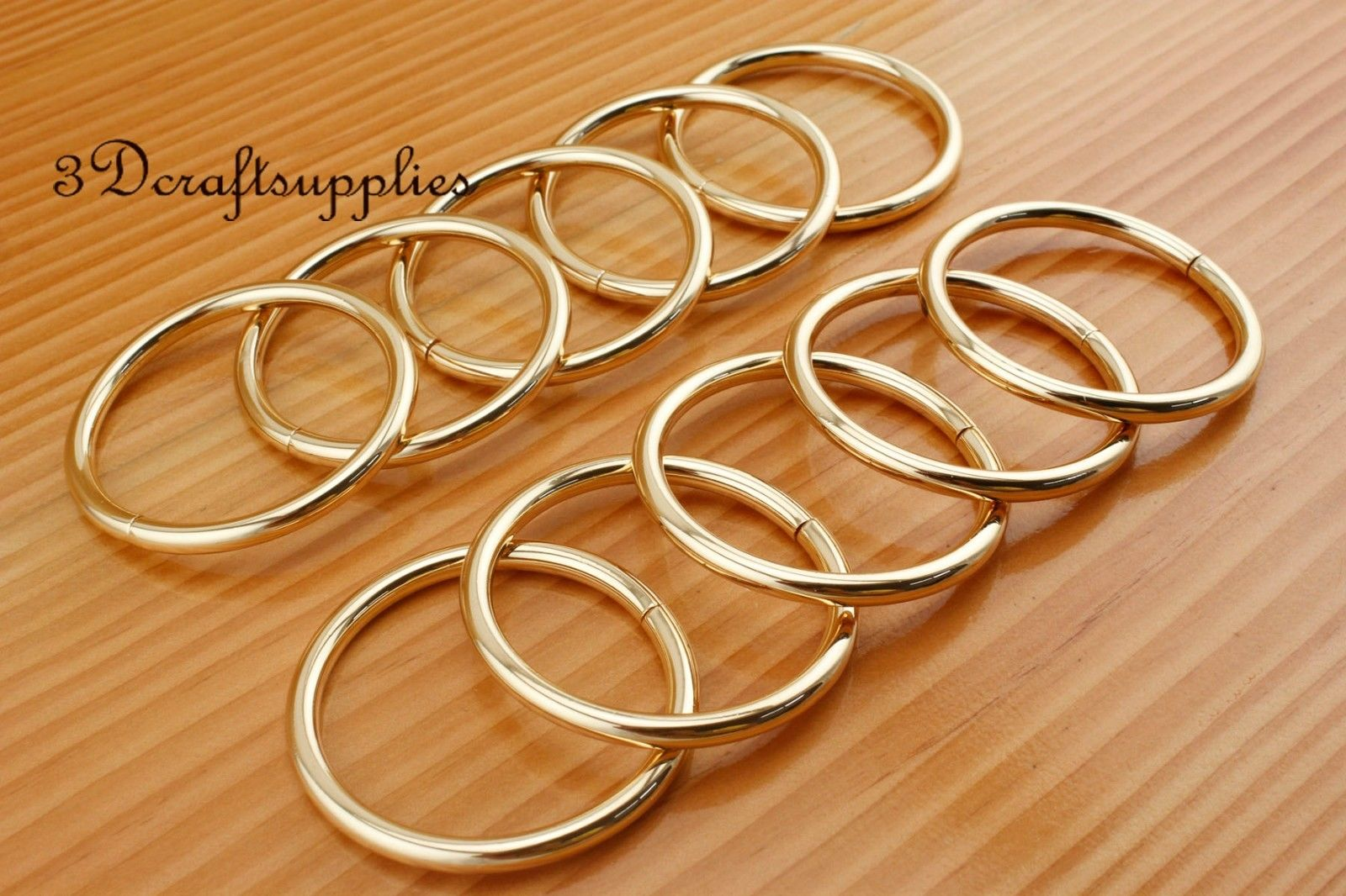metal O rings O ring purse ring connector golden 50 mm 2 inch 10pcs ...