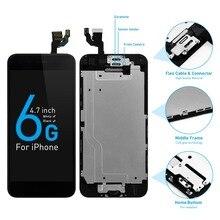 Pantalla completa de 4,7 pulgadas para móvil, digitalizador táctil 3D con botón de inicio, para Apple iPhone 6, LCD, A1549, A1586, A1589