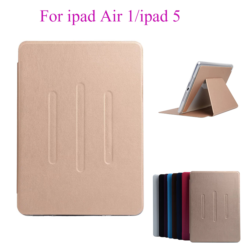 Flip Case For Apple ipad Air 1 ipad 5 Cases PU Leather Soft Silicon TPU Back Cover Tablet Stand Card Slots Protect Shell housing for ipad air 1 case smart wake up sleep tpu back cover for apple ipad 5 pu leather flip stand soft full protect stylus gift