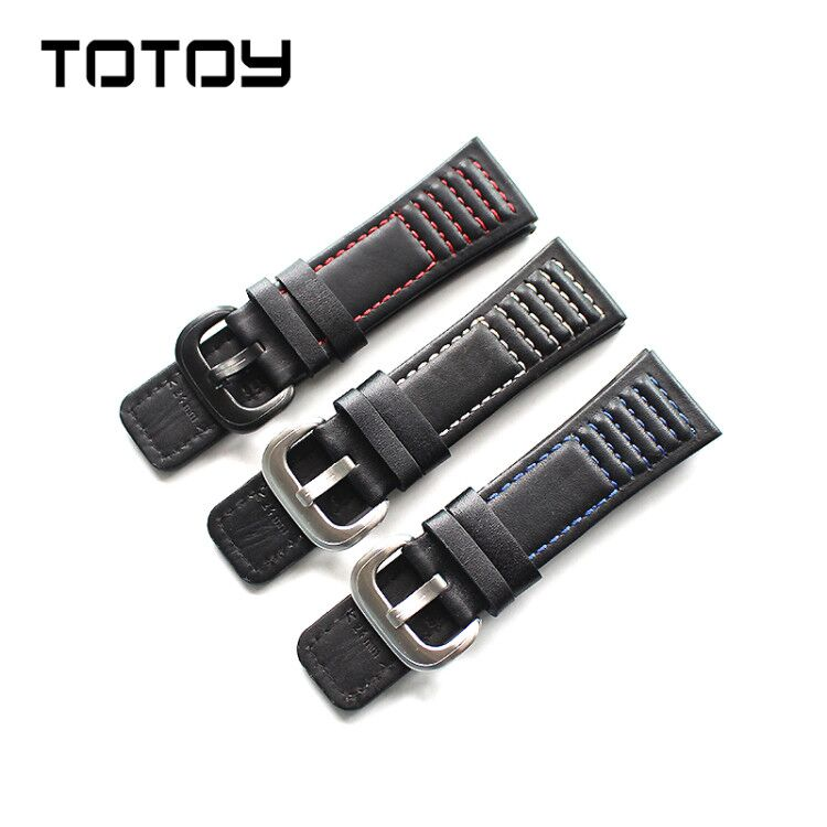 TOTOY Manual Watchbands For Seven Friday Strap, 28MM Black Retro Style Strap,Fast Delivery