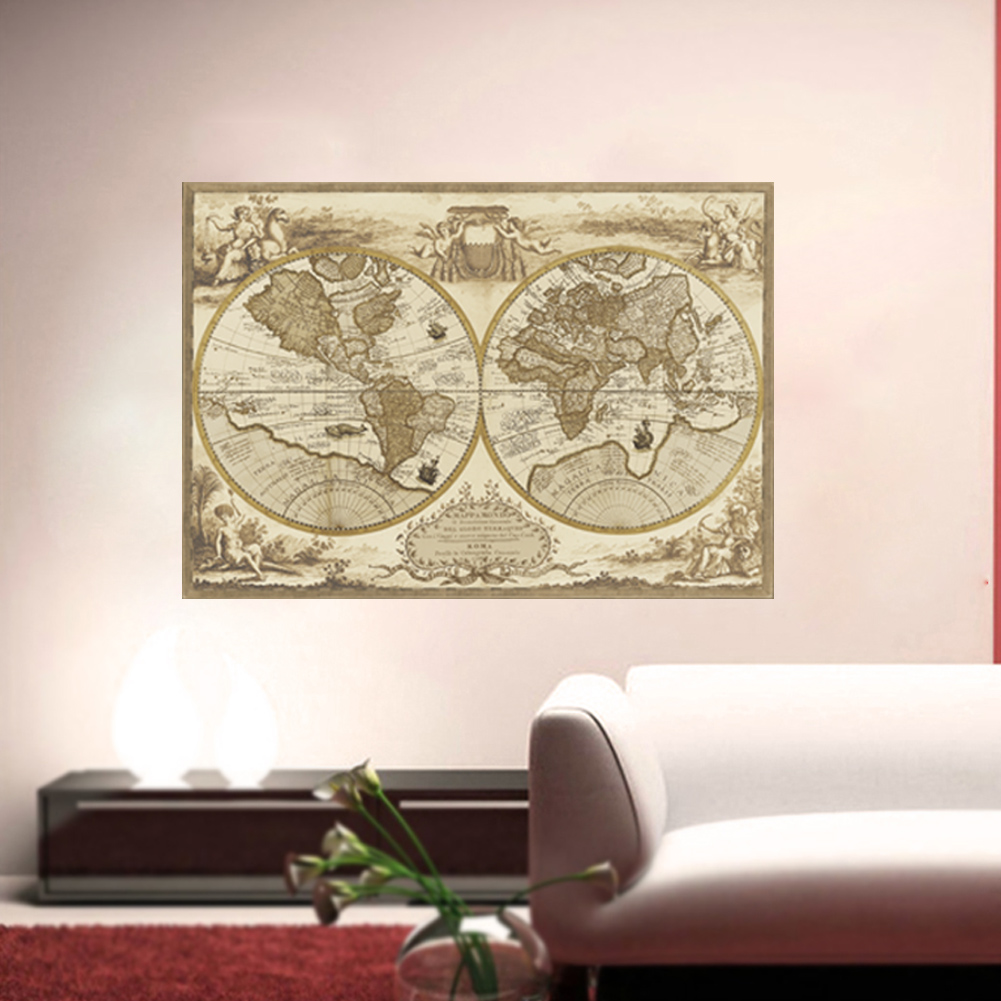 World Map Home Decor Aliexpresscom Buy Vintage Style Retro World Map Poster Home