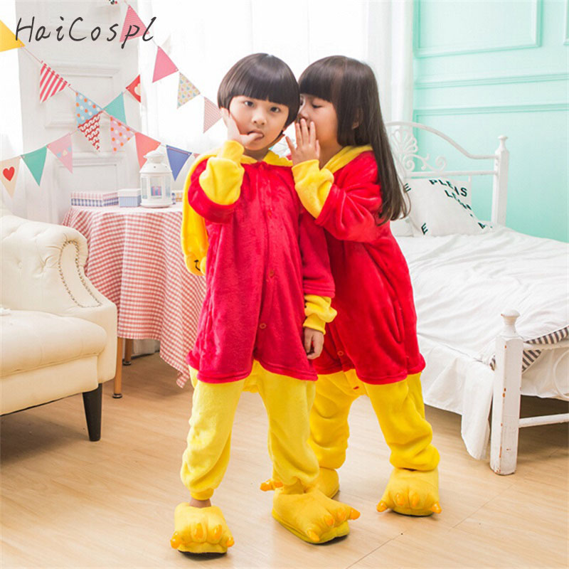 Bear Pajama Set Children Anime Cosplay Costume Kids Kigurumi Warm Onesie Party Suit Boys Girls Sleepwear Cartoon Lovely Fancy
