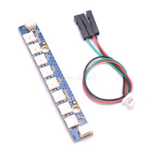 1 Pcs 8X RGB 5050 LED Programmable LED Bar WS2812 Lampu Papan Strip LED untuk RC FPV Racing Drone Quadcopter multicopter(China)