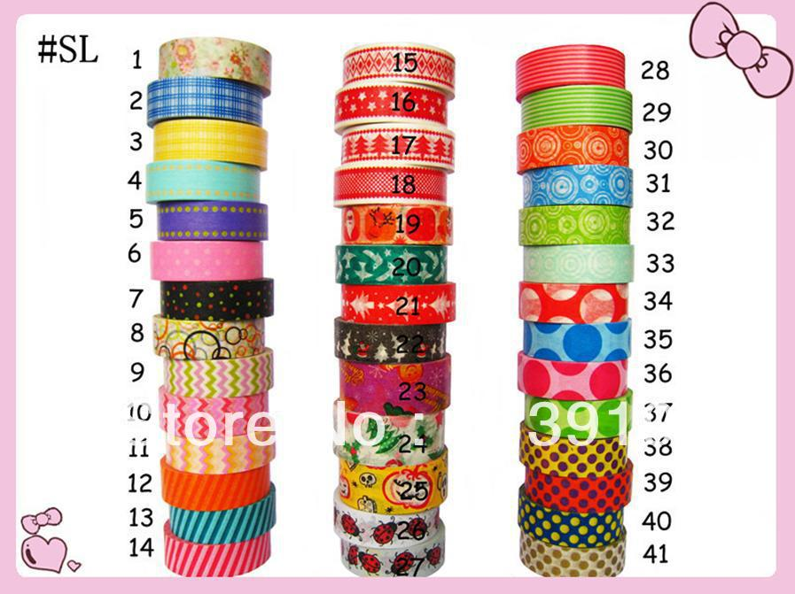 Christmas Washi Masking Paper Tape Promotion DIY Decoration Mixed 41 Design Selection - Sky store