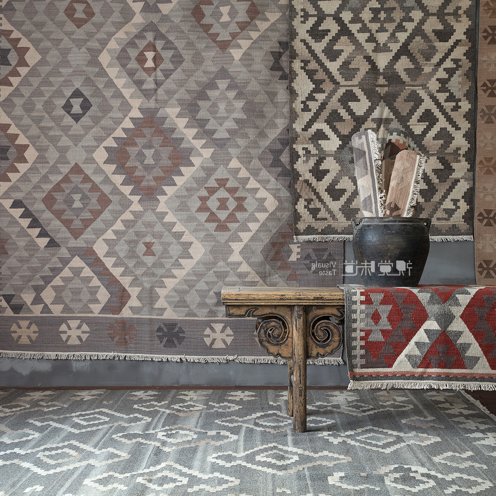 Inde Kilim tapis turquie Nation vent charme géométrie Europe du nord tapis concis moderne