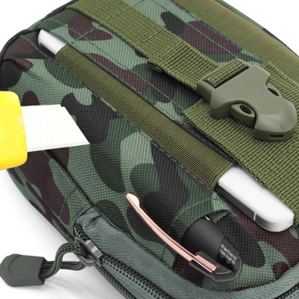 キャンプハイキング防水軍ウエストバッグファニーパック屋外電話ポーチ