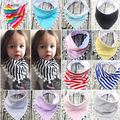 1Pcs Baby Boys Girls Bibs Toddler Bandana Triangle Head Scarf Cute Saliva Towel Hot