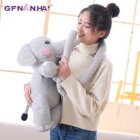 1pc 50cm Cute Long Nose Elephant Plush toy Stuffed Soft Down Cotton Animal Pillow Dolls kawaii Baby Sleeping Toys Birthday Gift